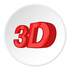 Sign 3d icon. Cartoon illustration of sign 3d vector icon for web