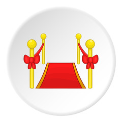Red carpet icon. Cartoon illustration of red carpet vector icon for web