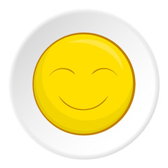 Smiley face icon. Cartoon illustration of smiley face vector icon for web