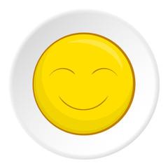 Smiley face icon. Cartoon illustration of smiley face vector icon for web