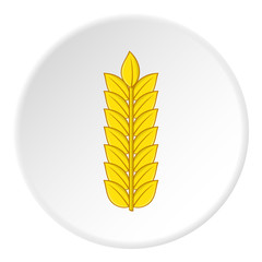Wheat icon. Cartoon illustration of wheat vector icon for web