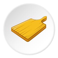 Cutting board icon. Cartoon illustration of cutting board vector icon for web