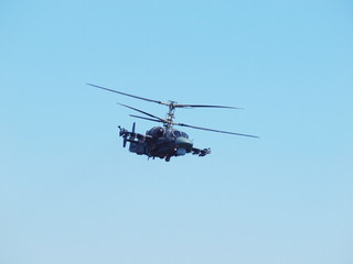 Russian Air Force Ka-52 performing Voronezh airshow