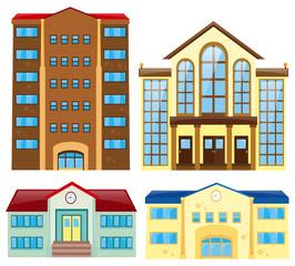 Four different building design