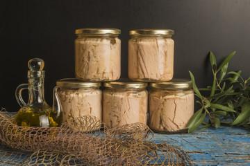 Albacore in olive oil conserve