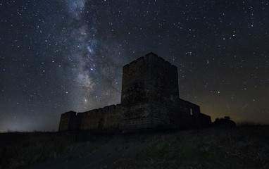The milky way and medieval castle