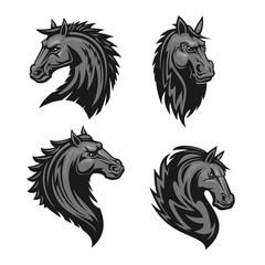 Horse head heraldic emblem