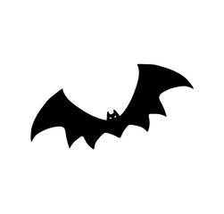 Bat Silhouette. A hand drawn vector silhouette illustration of a bat.