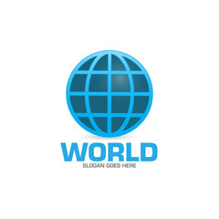 abstract digital world sphere logo icon