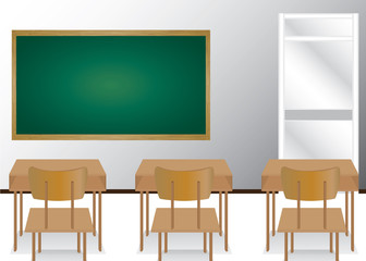 Welcome back to school and classroom. Illustration of students in the classroom.