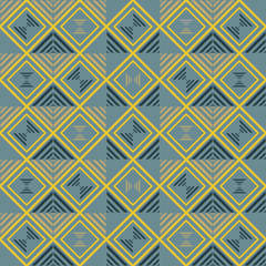 Seamless geometric pattern of squares and striped triangles