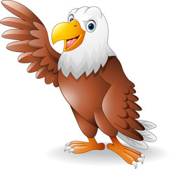 Cartoon eagle presenting
