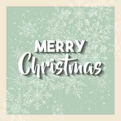 happy merry christmas snowflake background vector illustration design