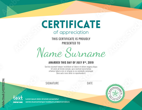 Modern certificate background design template stock image and modern certificate background design template yelopaper Image collections