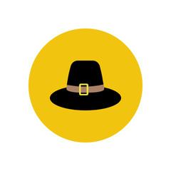 Pilgrim hat illustration