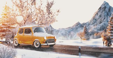 Cute little retro car