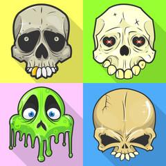 Set of skulls.