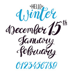 lettering for winter months