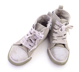 Child's textile shoes.