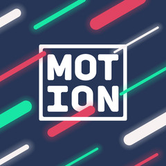 Abstract dynamic background. Neon lights in motion. Eps10 vector.