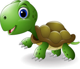 Cartoon happy turtle