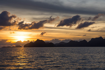 sunset watching in El Nido, Palawan, Philippines