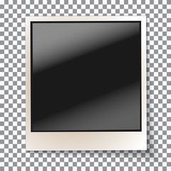 Old empty realistic photo frame