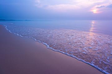 Sweet sunset at tropical beach.