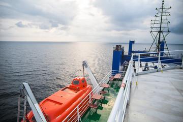Orange lifeboat image