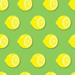 Seamless pattern with lemons. Bright summer design