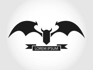 Bat Logo. Devil Logo. Isolated.
