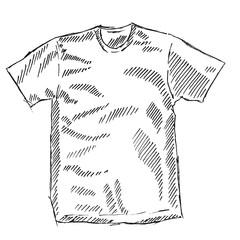 T-shirt sketch vector illustration