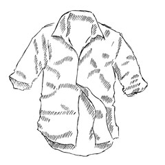 Shirt sketch vector illustration