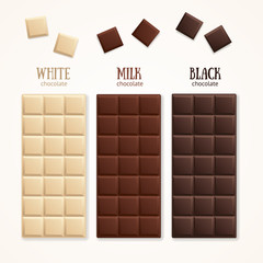 Chocolate Bar Blank. Vector