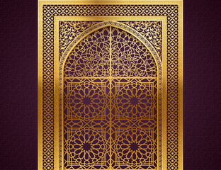 Background with Arabic Pattern