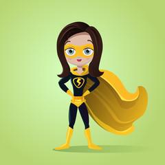 Superhero girl with mask