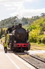 Train à vapeur à  Anduze.
