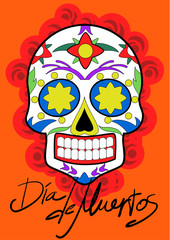 Day of the Dead celebration. Traditional Mexican Festive concept vector illustration.