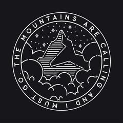 Vector mountains illustration