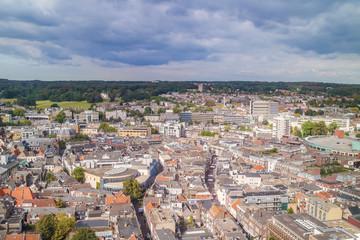Aerial view of the Dutch city Arnhem in the province of Gelderla
