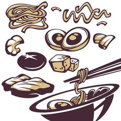 ramen ingridients, all for your noodle menu