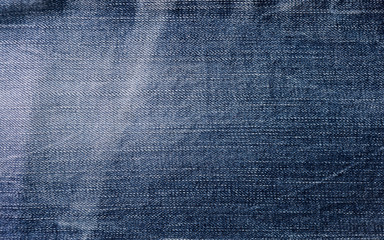 Abstract blue jean fabric texture background