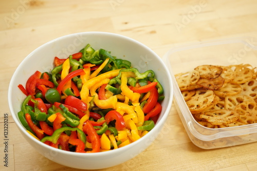 home cooked organic foods and leftovers in food containers for lunch