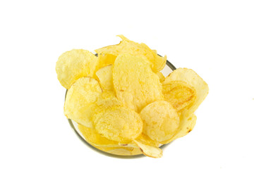 Coppetta di patatine salate