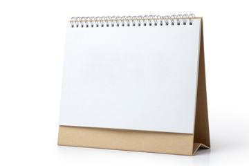 Blank desk calendar on white background