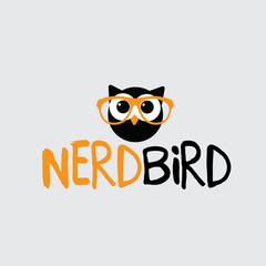 Nerd owl icon design. EPS 10 vector.