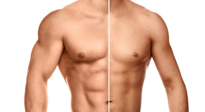 Comparison of bodybuilding progress