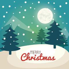 christmas tree pine card vector illustration design