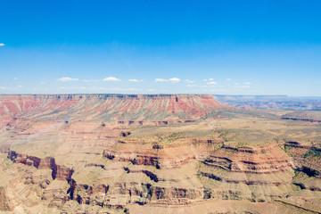Grand Canyon and blue sky aerial photo, Arizona, USA