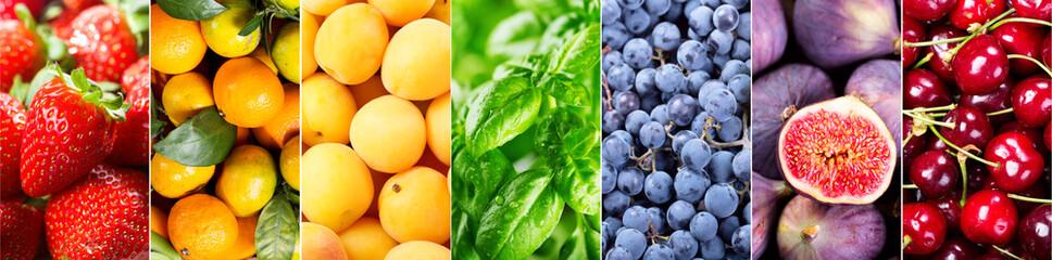 fresh fruits and vegetables, banner